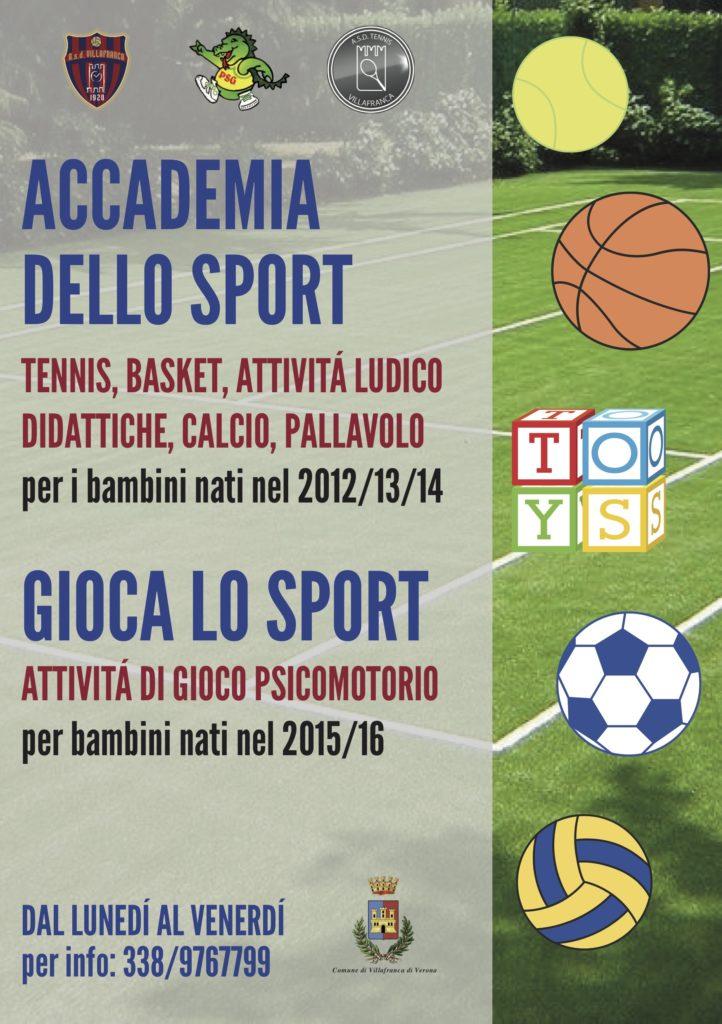 Gioca lo sport Accademia dello Sport 2019 front